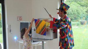 Der Zauber Clown durfte natürlich nicht fehlen